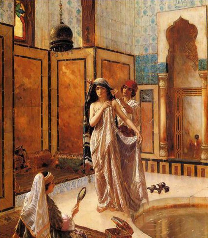 5-la-harem-bain-arabe-peintre-rudolf-ernst